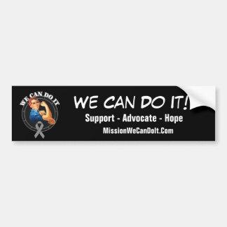Parkinson's - Rosie The Riveter - We Can Do It Bumper Sticker