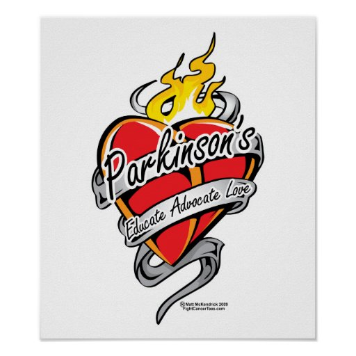 Parkinson's Tattoo Heart Posters