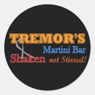 Parkinson's Tremor's Martini Bar Shaken Design Classic Round Sticker
