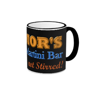 Parkinson's Tremor's Martini Bar Shaken Design Mugs