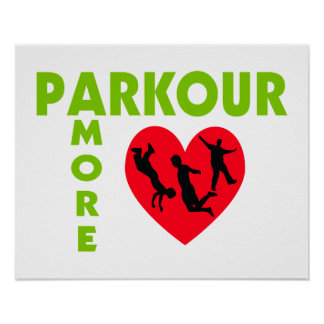 Parkour Amore With Heart Poster