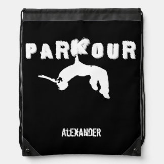 Parkour cinch sack backpack