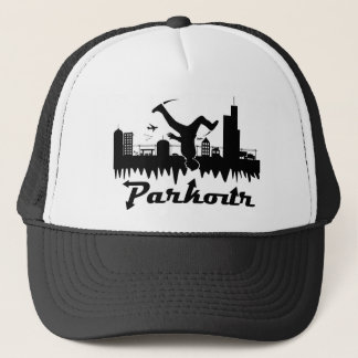 Parkour City Trucker Hat