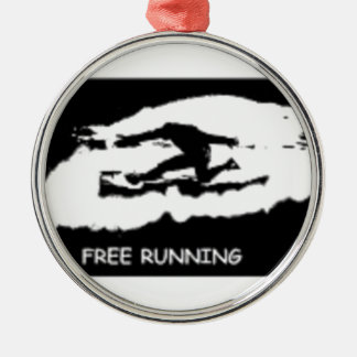 PARKOUR FREE RUNNING Silver-Colored ROUND DECORATION