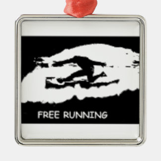 PARKOUR FREE RUNNING Silver-Colored SQUARE DECORATION