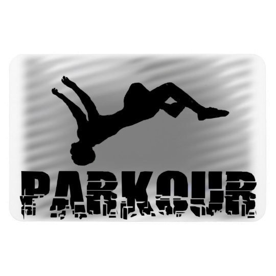Parkour Gymnast Rectangular Photo Magnet