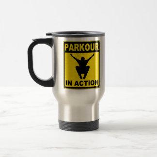 Parkour In Action Signboard Travel Mug