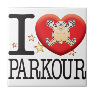Parkour Love Man Small Square Tile