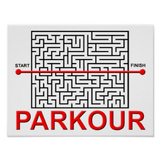 Parkour Maze Funny Poster