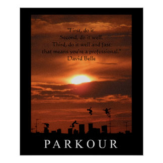Parkour Quote Poster