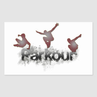 Parkour Rectangular Sticker