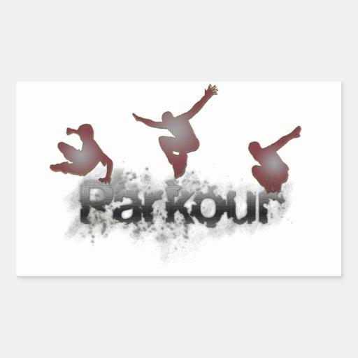 Parkour Rectangle Sticker