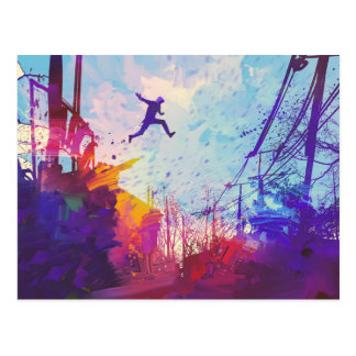Parkour Urban Free Running Stationery Postcard