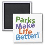 Parks Make Life Better! Official Logo Magnet