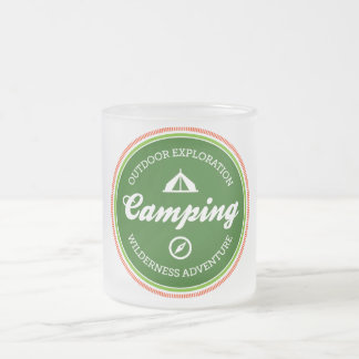 Parks & Recreation Camping Frosted Glass Mug