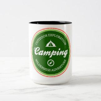 Parks & Recreation Camping Two-Tone Mug