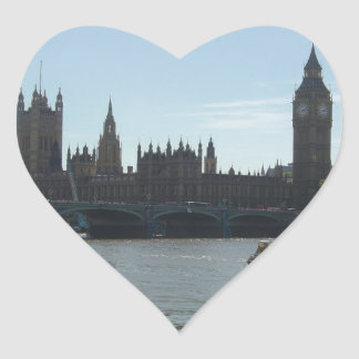 Parliament & Big Ben Heart Sticker