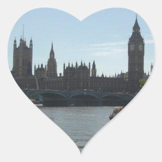 Parliament & Big Ben Heart Sticker