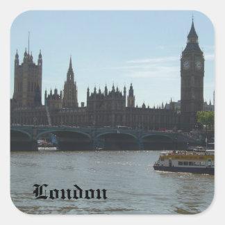 Parliament & Big Ben Square Sticker