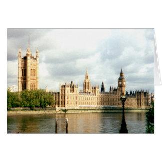 Parliament, Big Ben , Thames River Landscape Card