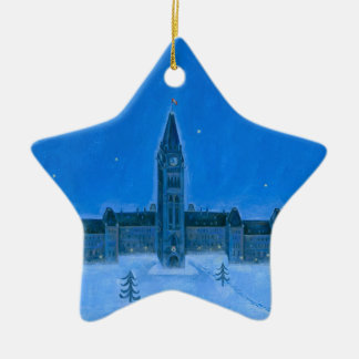 Parliament Buildings Ottawa Christmas Ceramic Star Decoration