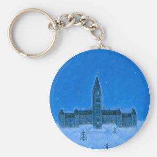 Parliament Buildings Ottawa Christmas Keychain