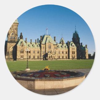 Parliament Buildings, Parliament Hill, Ottawa, Ont Round Sticker