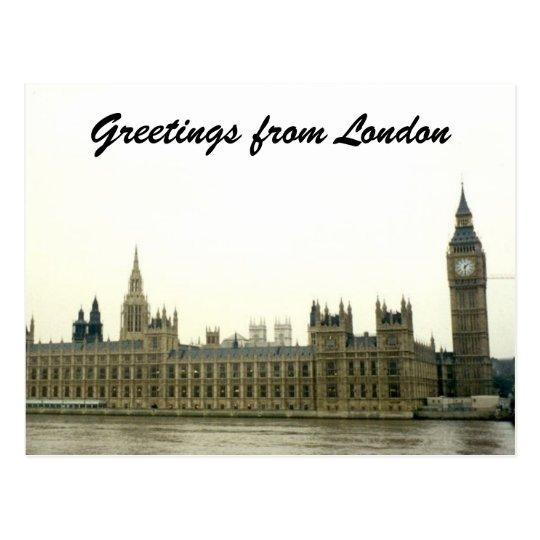parliament greetings postcard
