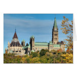 Parliament Hill in Autumn, Ottawa. Greeting Card