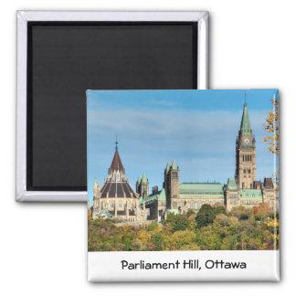 Parliament Hill in Autumn, Ottawa. Square Magnet