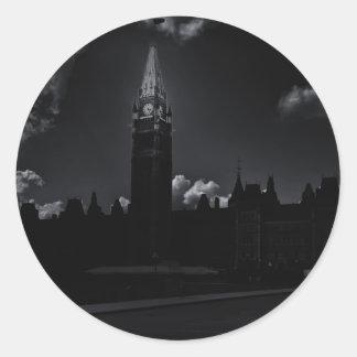 Parliament Hill Round Sticker