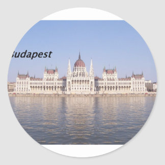 parliament-hungary--[kan.k] round sticker