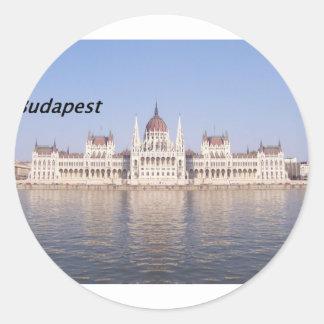 parliament-hungary--[kan.k] round sticker