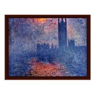 Parliament In London By Claude Monet Postcard