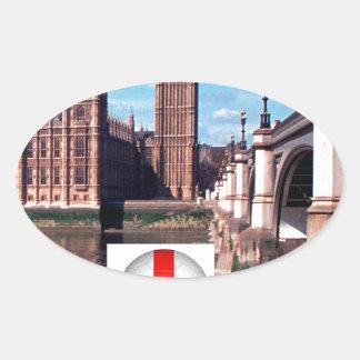 Parliament , London , England Oval Sticker
