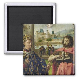 Parliament of Paris Altarpiece Square Magnet