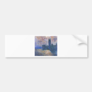 Parliament, Reflections on the Thames Claude Monet Bumper Sticker