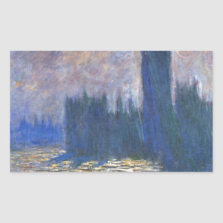 Parliament, Reflections on the Thames Claude Monet Rectangular Sticker