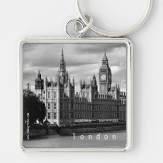 Parliament Silver-Colored Square Key Ring
