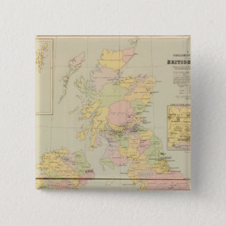 Parliamentary map, British Isles 15 Cm Square Badge