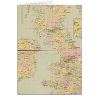 Parliamentary map, British Isles Card