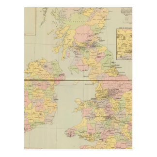 Parliamentary map, British Isles Postcard