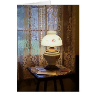Parlor With Hurricane Lamp Card