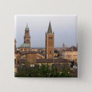 Parma city center; Battistero church on the 15 Cm Square Badge