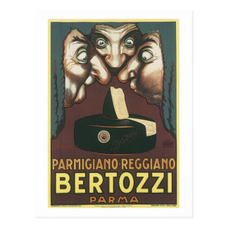 Parmagiana Reggiano Bertozzi Parma Ad Postcard