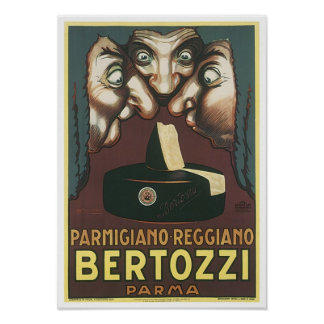 Parmagiana Reggiano Bertozzi Parma Ad Poster