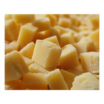Parmigiano Reggiano cheese in cubes Poster