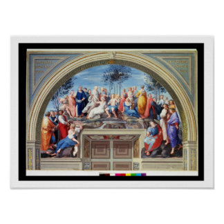 Parnassus and the Disputa, from the Stanza della S Print