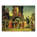 Parnassus; Mars and Venus by Andrea Mantegna 11 Cm X 14 Cm Invitation Card