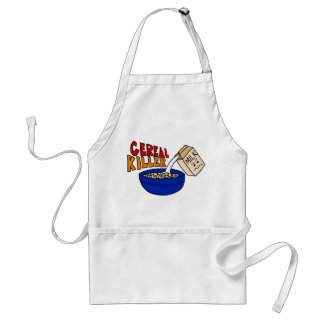 Parody Cereal Killer Breakfast Food Humor Standard Apron